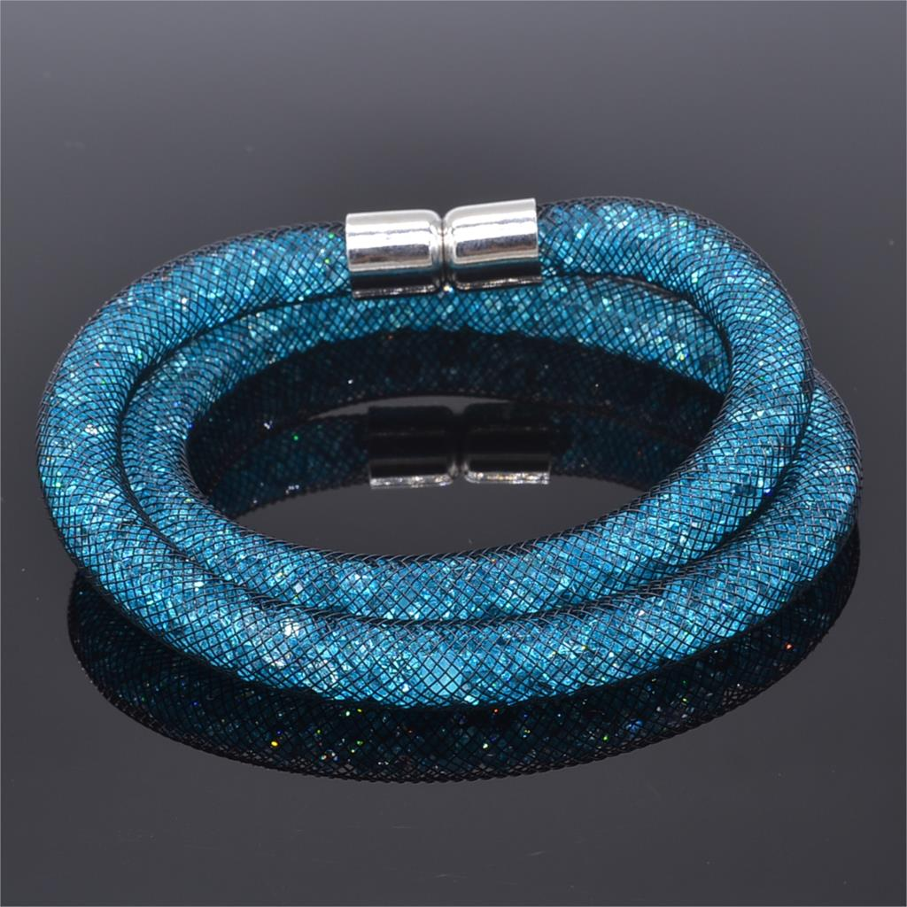 Manufacturers Wholesale Most Incredible Stardust Double Star Bracelet Mesh Chain Internal Packaging Magnetic Bracelet Crystal(China (Mainland))
