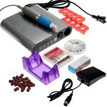 New Fashion Professional Electric 10pcs /Set Electric Nail Drill Kit Manicure Art Machine Drill Nail Tools 100~240V us51(China (Mainland))