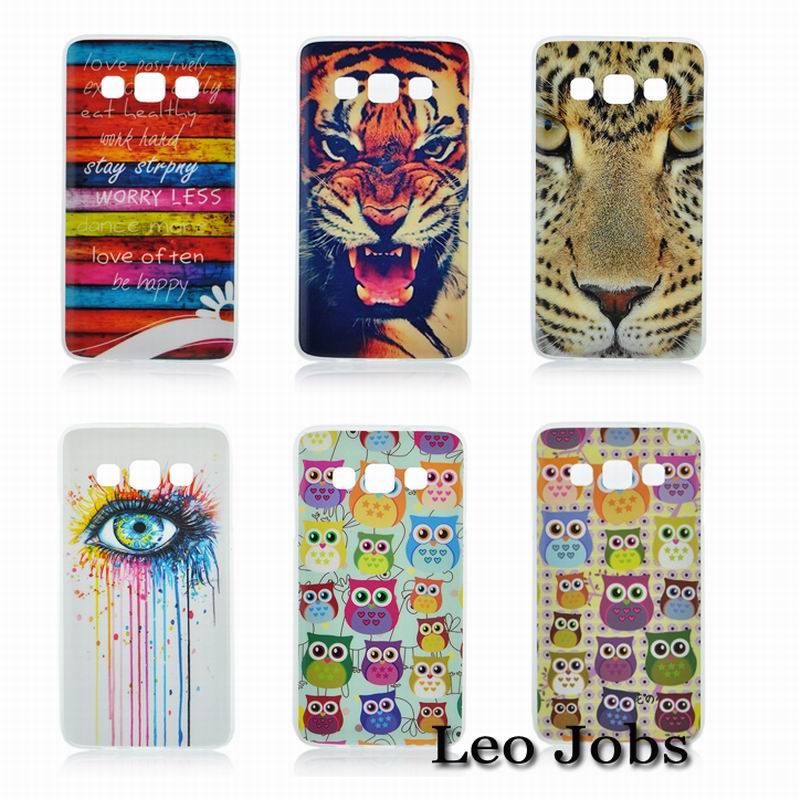 Owl Tiger Flowers Crying Eyes Colorful Stripe Soft TPU Back Cover Case phone Cases Samsung Galaxy A3 Protective - LOVECOM Store store