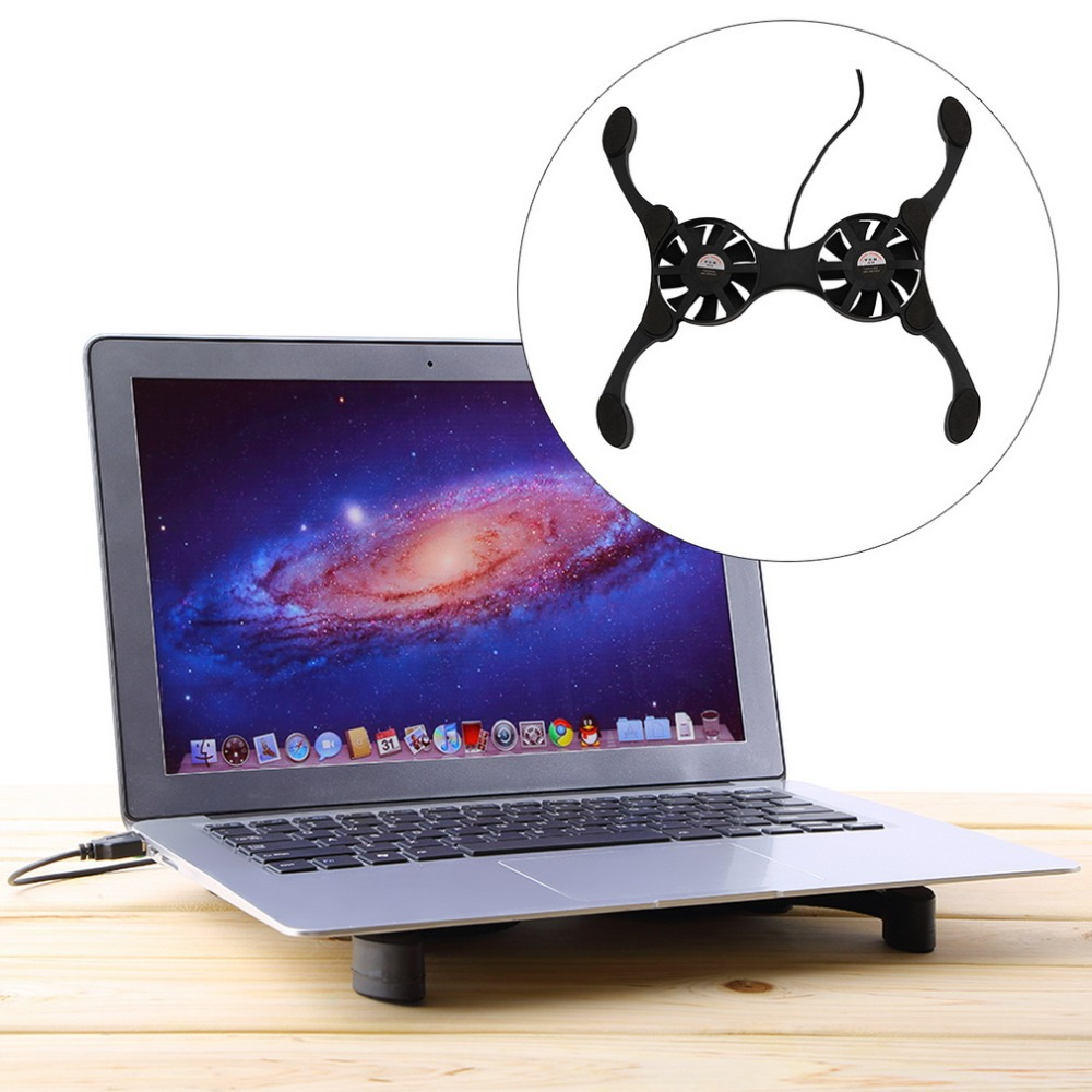 USB Mini Octopus Laptop Notebook Fan Cooler Cooling Pad Folding Coller Fan With Retail Box Free Shipping(China (Mainland))