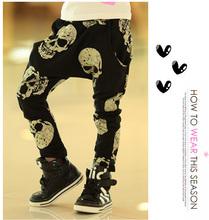 Hot Sale Children Brand Clothing Kids Skull Pants Boys Girls Cartoon Trousers Baby Harem Pants Free Shipping(China (Mainland))