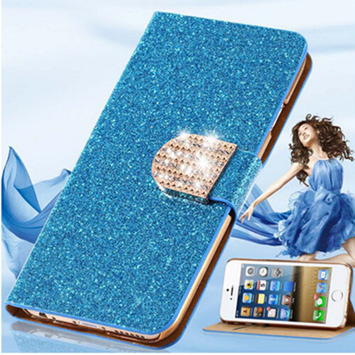 For Apple iPod Touch 5 Case Luxury Glitter Bling Crystal Diamond Leather Wallet Case For Apple iPod Touch 5 Card Slot Cover(China (Mainland))