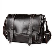 2016 leather men's bag shoulder bag Head layer cowhide leisure Crossbody Bags men messenger bags