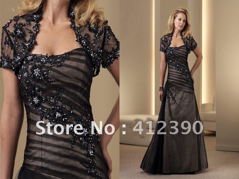 Online Get Cheap Black and Champagne Mother of The Bride Dress ...
