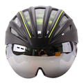 Ultralight Goggles Bicycle Helmet Double Layers In mold Cycling Helmet Casco Ciclismo Bike Helmet With Goggles