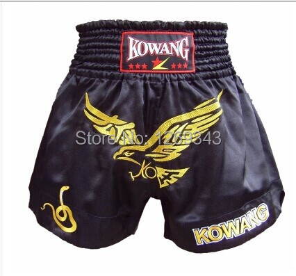 Muay Thai men and women pants quality goods the eagle red muay Thai boxing pants pants breathable loose kickboxing shorts(China (Mainland))