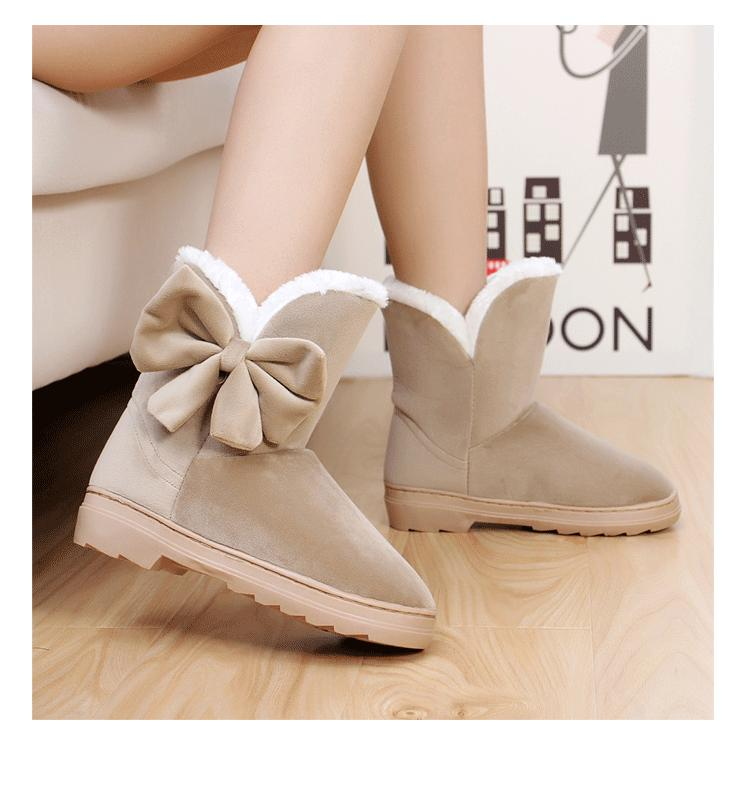 snow boot goosegrass bottom flat bow girl short boots shoes - Online Store 139992 store