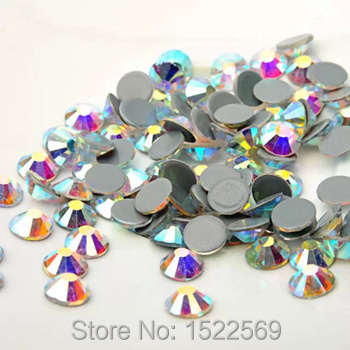 #2058HF SS20 AB Crystal Shiny Loose FlatBack Hot Fix Strass Crystal Hotfix Rhinestones