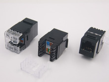 100pcs New RJ45 Connector six Class Computer Network Module CAT6 UTP information Gigabit module Special Wholesale TO Russia(China (Mainland))
