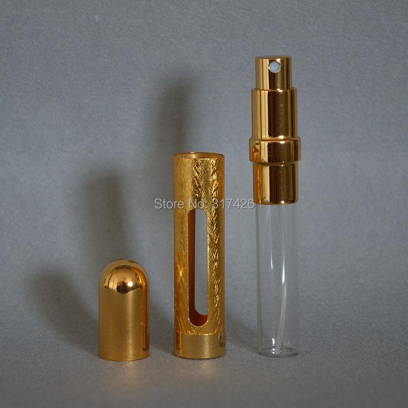 wholesale 12ml Refillable Spray,empty metal spray bottle, gold aluminum perfume bottle, Amazing Travel Perfume Atomizer,(China (Mainland))