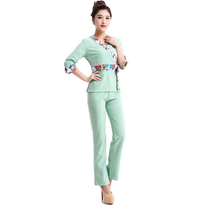 2016 Sexy Cotton Medical Clothing Uniform Hospital Lab Coat Korea Style Women Medical Scrub Clothes Fashion Design Breathable(China (Mainland))