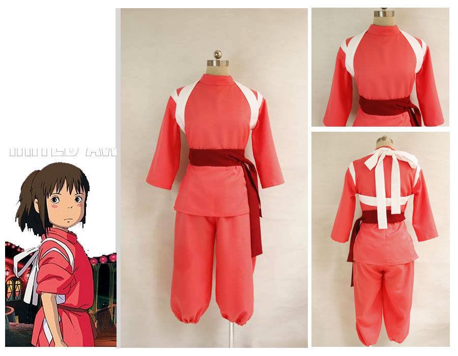 Miyazaki Hayao Spirited Away Chihiro Ogino Sen cosplay costume Custom made - Cosplay Top seller store