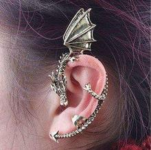 Free Shipping, C065 ,Vintage Gothic Punk Style Dragon Stud Earring Ear Clip Hook,Fashion Jewelry(China (Mainland))