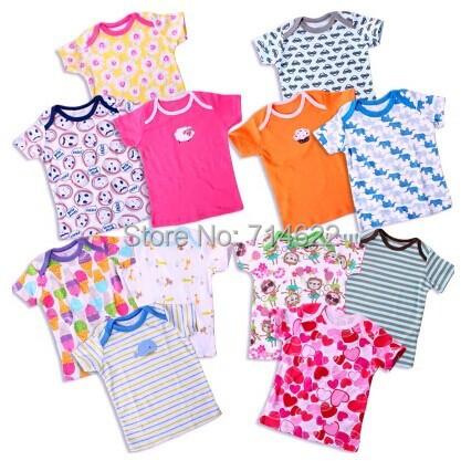 Free shipping 5 pcs/lot 2015cate summer new cotton t-shirt Infant Boy and girls T-shirt(China (Mainland))