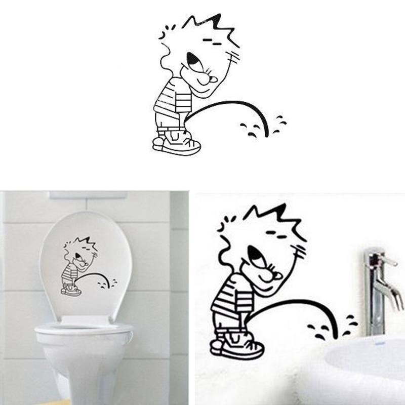 Keuken Badkamer Almelo ~ Free Shipping Funny DIY Decals Art Wall Stickers Funny Baby Toilet