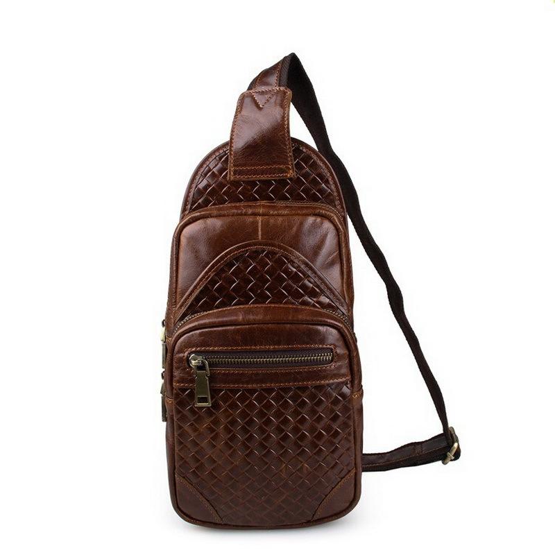 Vintage Men bags genuine leather chest pack cowhide chest pack men messenger bag crossbody bags leather sport bag travel<br><br>Aliexpress