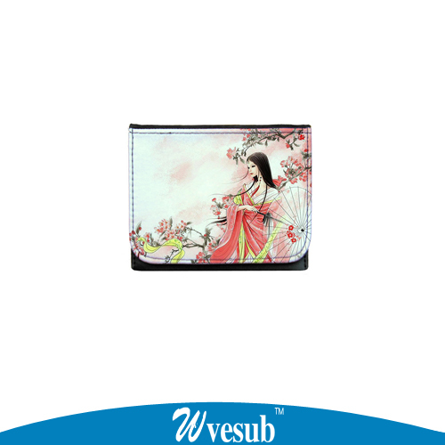 sublimation wallet Deluxe women bag wallet boys and girls individuality original fashion purse DIY wallet print own picture(China (Mainland))