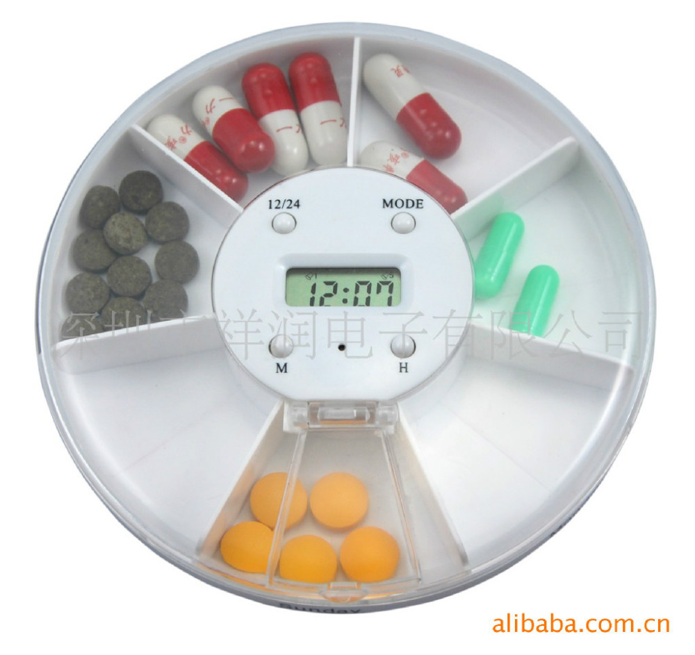 Computerized Medication Dispenser ~ Pack rotating electronic kit for days week automatic