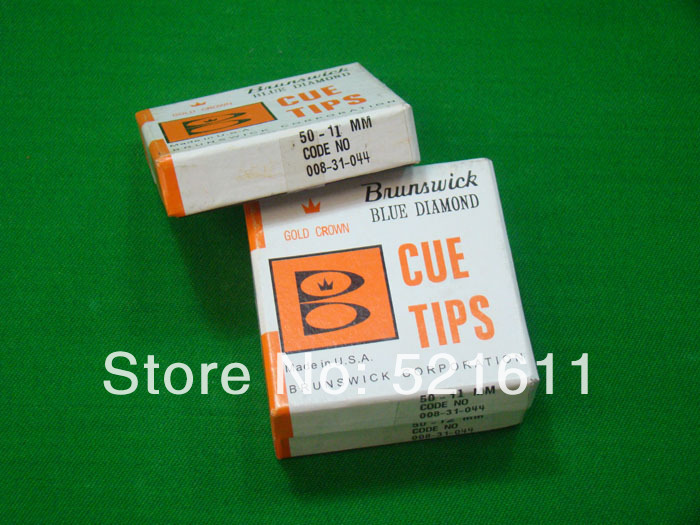 Free shipping!!! 50pcs/lot very cheap Brunswick snooker billiard pool cue tips/11mm snooker tips billiard accessories wholesales(China (Mainland))