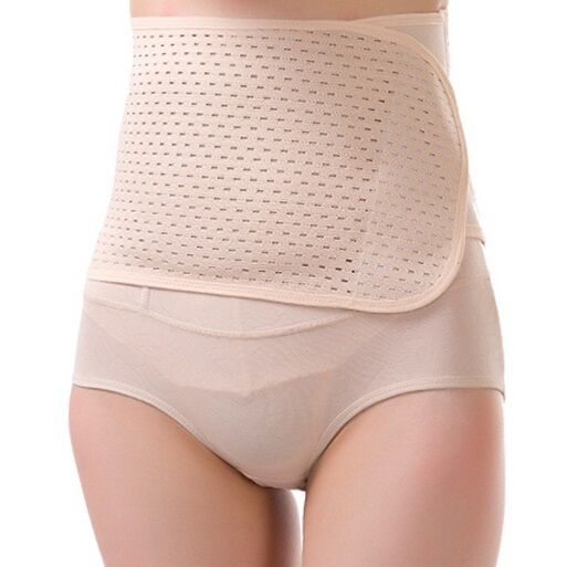 Beige Waist Cincher Fitness Fat Cellulite Burner Slimming Body Shaper Waist Belt Corsets for Women Free Shipping Wholesale(China (Mainland))