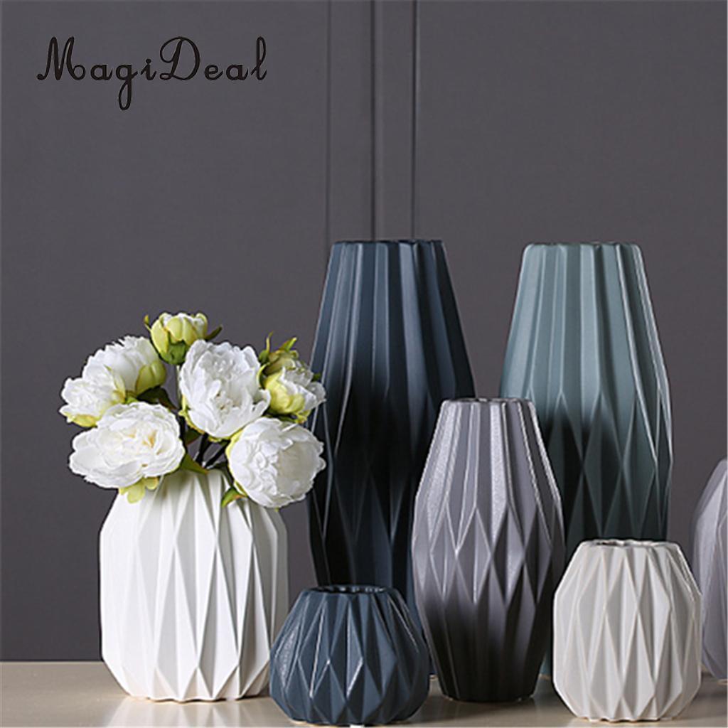 Decorative Ceramic Flower Pot Folding Paper Design Succulent Planter Pots Tabletop Vase Container for Cactus Succulent Plant