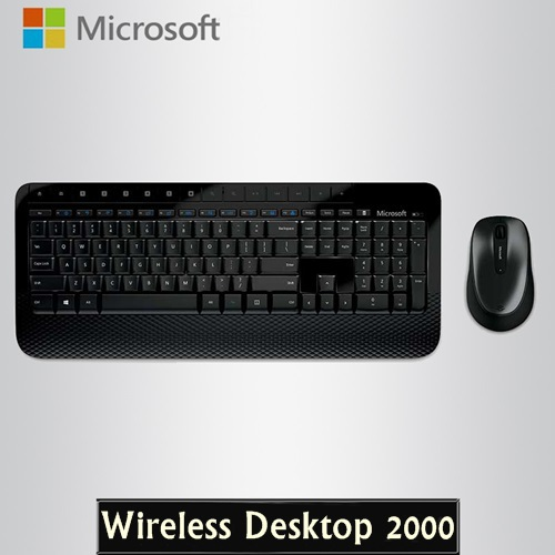 New Arrival Genuine Microsoft Wireless Desktop 2000 2.4GHz Wireless Keyboard and Mouse Combo For Desktop(China (Mainland))
