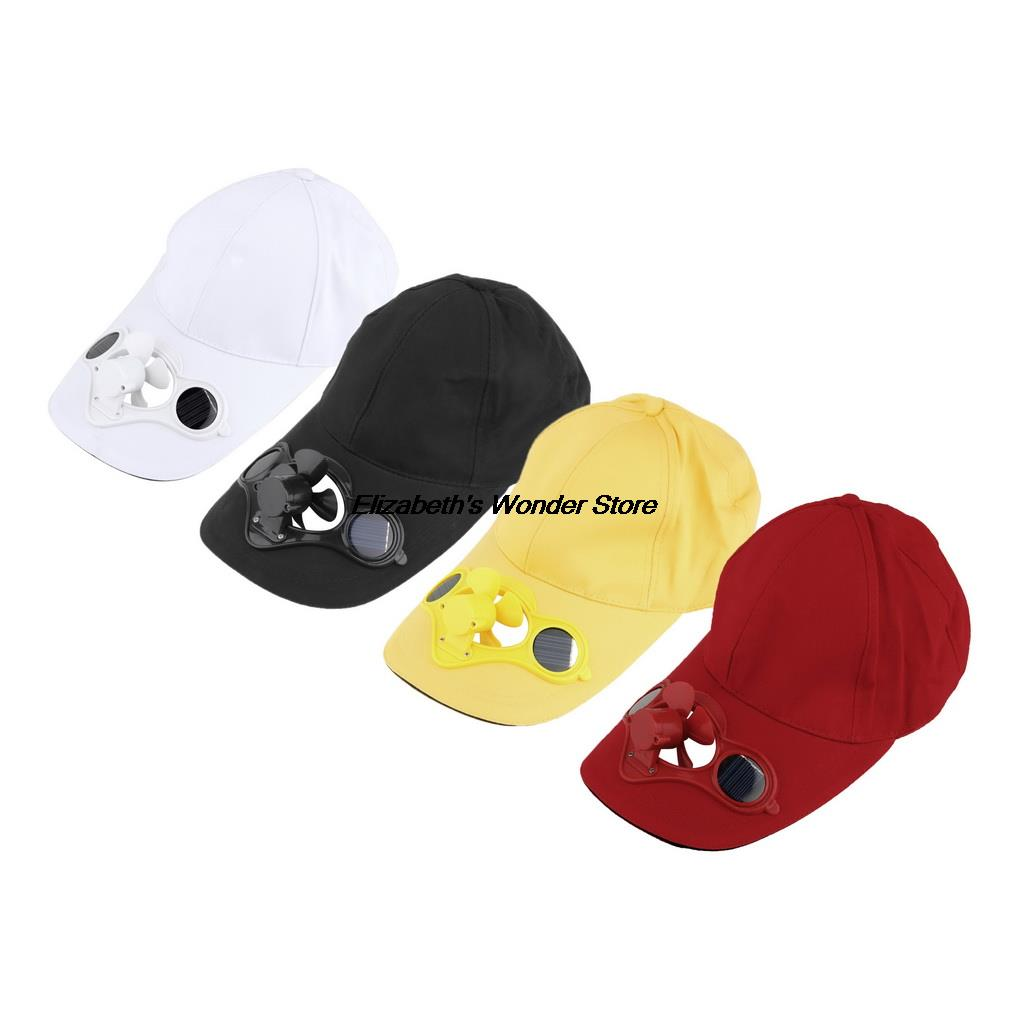 1pc Fashion Solar Power Hat Cap with Cooling Fan for Outdoor Golf Baseball Hot Selling(China (Mainland))