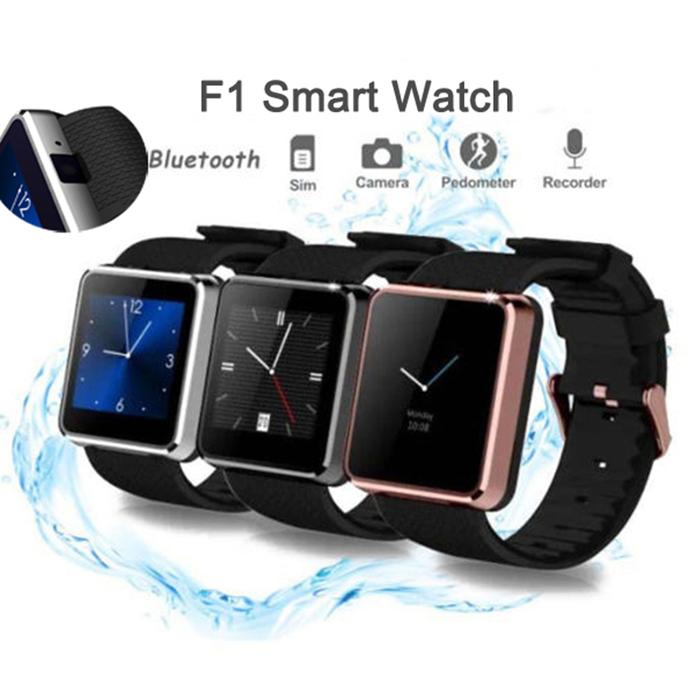 Brand New Men Women Bluetooth Smart Watch F1 Waterproof Smartwath Fitness Tracker SIM slot For Android iOS Smartphone(China (Mainland))