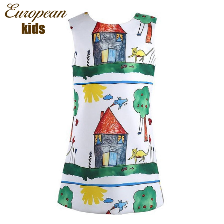 Гаджет  New Princess Dress Girl Straight  Baby girl Floral Printed Girls Dresses Desinger 2015 Winter Baby Dress Children Clothing None Детские товары