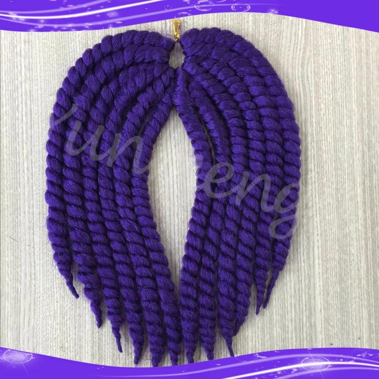 Havana Mambo Twist Crochet Braid Hair Synthetic Ombre Kanekalon Kinky Marley Twists Braiding Hair Extension04