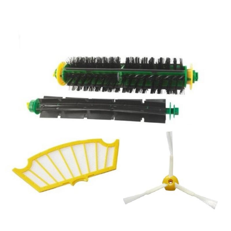 High Quality Side Brush Filter Mini Kit 3 Armed for iRobot Roomba 500 Series 520 530 540 550 560Free Shipping(China (Mainland))