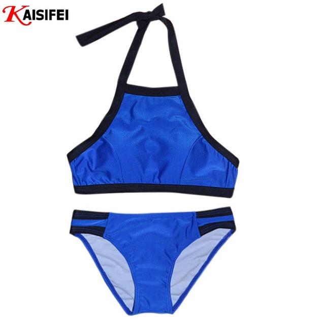 Новый 2016 высокая шея бикини сексуальные бразильские бикини женский купальный костюм пляжная одежда повязку купальник хлопка-ватник купальники Biquinis