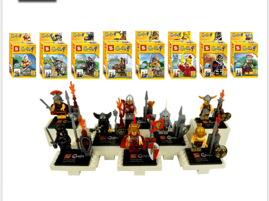 Medieval Castle Knights Children People Aberdeen assembled building blocks Doll Accessories toy Lego Compatible(China (Mainland))