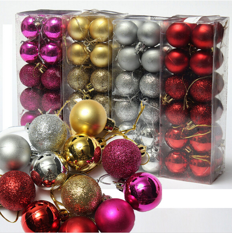 24pcs Lot Christmas Tree Decor Ball Bauble Hanging Xmas