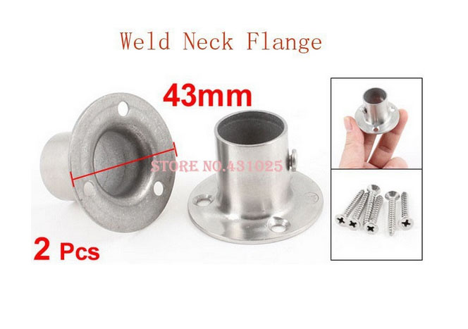 2 Pcs 19mm x 30mm Stainless Steel Clothes Lever Socket Pipe Weld Neck Flange(China (Mainland))