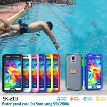 2016 IP68 Shockproof Waterproof Case For Samsung Galaxy S5 S4 Plastic Silicone Protection Underwater Swimming Case Cover