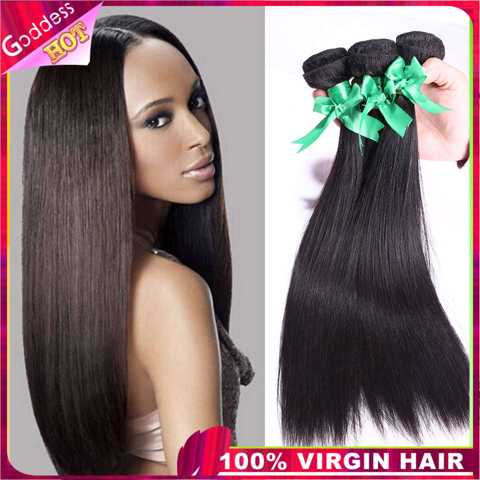 6a unprocessed mongolian straight virgin hair real human hair extensions 100g/pc3 bundles lot human hair weave free shipping(China (Mainland))