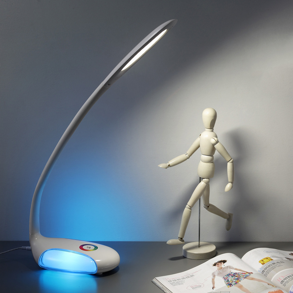 2016 newest creative attractive high quality Desk Table Lamp Eye Care LED Colorful Light with 3 Brightness Touch Dimmer<br><br>Aliexpress