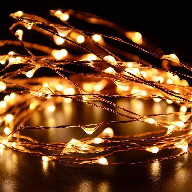 Copper String Lights Solar : Solar powered Warm White 10M/33FT 100LED Copper Wire LED String Fairy Light lamp eBay
