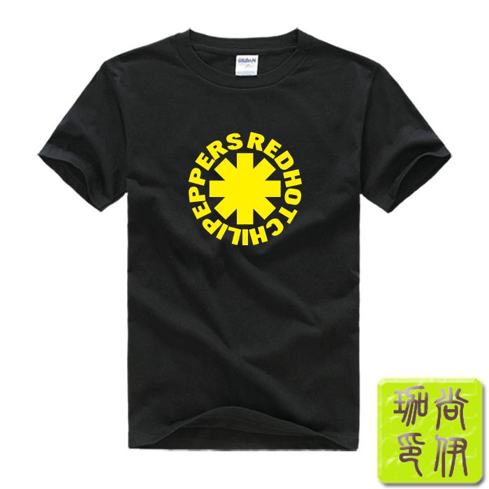 Rock Red Hot Chili Peppers Printed Mens Men T Shirt Camisetas Masculinas 2015 Manga Curta Camisa Masculina Tshirt(China (Mainland))