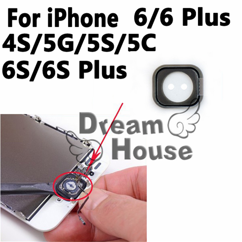 2pcs/lot New For iphone 4S 5G 5S 5C Home Button Rubber Gasket For iphone 6 6S Plus Home Button Holder Sticker Replacement Parts(China (Mainland))