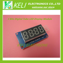 Free shipping 1pcs  4 Bits Digital Tube LED Display Module With Clock Display TM1637 for Arduino Raspberry PI(China (Mainland))