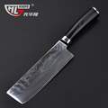 Japanese style cleaver nakiri damascus kitchen knives 7 inch chopper 63 layers kitchen knife sharp damascus