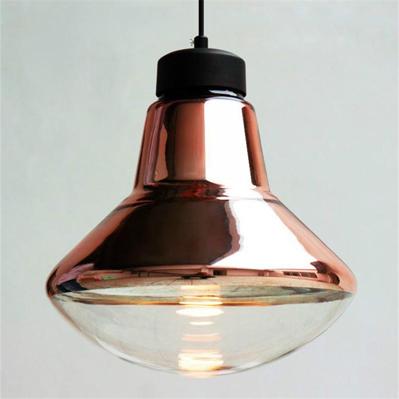 Silver/Copper Lampshade Glass Pendant Light Fixtures Modern Nordic Dinning Design Art Luminaire Luster Retro Bar Lamp PLL-163(China (Mainland))
