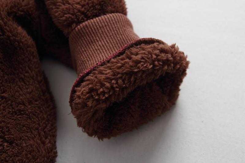 Скидки на 2016 новый медведь Плюшевые с капюшоном на молнии Толстовки куртки детская одежда мальчиков девушки верхняя одежда детей зимние пальто куртка дети