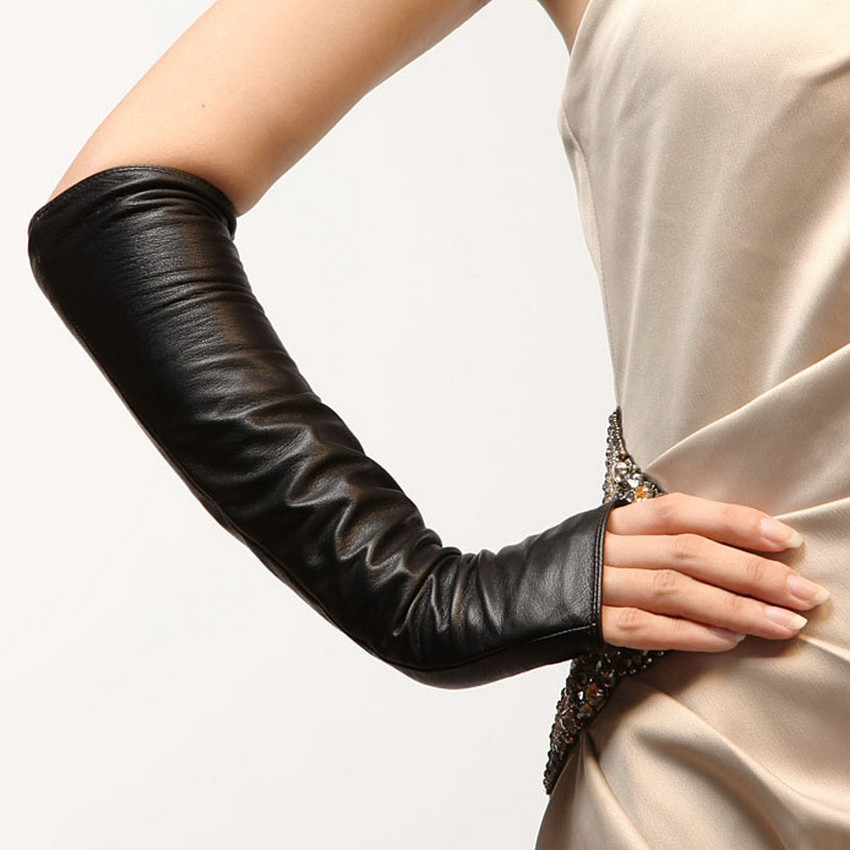 Popular The Roses  Womens Leather Dress Gloves With Long Fingers