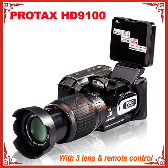POLO HD9100 720P 16MP 16X Optical zoom Telephoto Lens 2.5 inch LCD video camcorder Camera(China (Mainland))