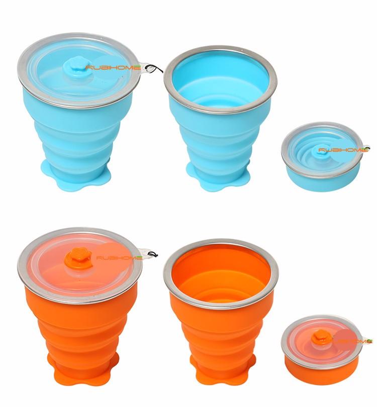 Rubihome 160 мл Сложенном Стакана Воды Бутылки Контейнеры Современный Экологически 17