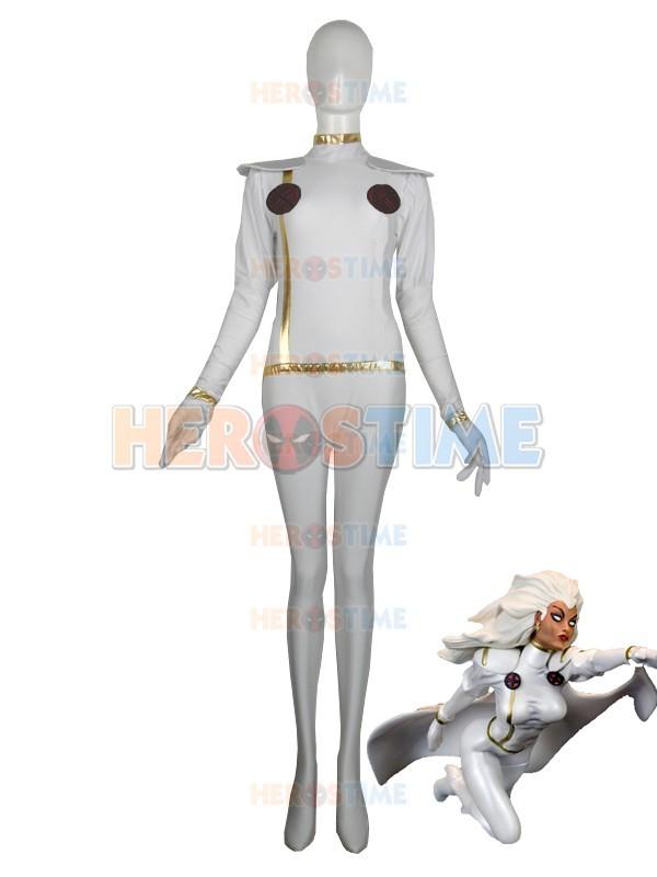 Hot Sale Halloween Lycra Spandex X-men White Storm Superhero CostumeОдежда и ак�е��уары<br><br><br>Aliexpress