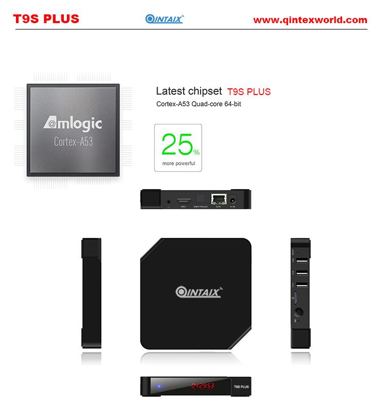 Android TV Box Amlogic Quad Core TV Box 5.1 Android TV Box QINTEX T9S PLUS Amlogic S905 Android Media <br><br>Aliexpress